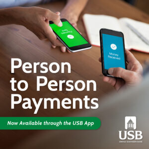 Introducing P2P Payments - United Southern Bank - United Southern Bank