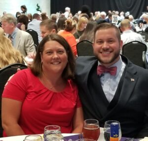 Couple Posing Together at the Sanctuary Dinner
