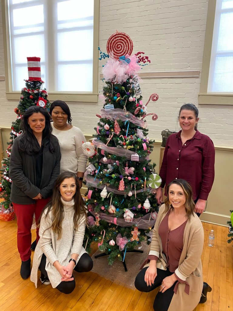 USB Employees with their tree at the Festival of Trees in Hopkinsville