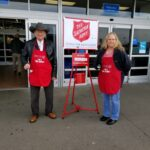 USB Employees ring the bell at Wal-Mart for the Salvation Army